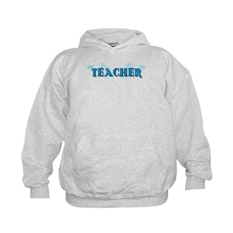Angel Wings Teacher Kids Hoodie