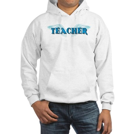 Angel Wings Teacher Hooded Sweatshirt