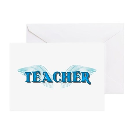 Angel Wings Teacher Greeting Cards (Pk of 10)