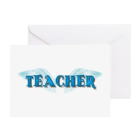 Angel Wings Teacher Greeting Card