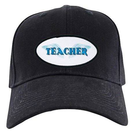 Angel Wings Teacher Black Cap