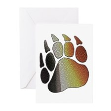 BEAR PRIDE PAW/TEXTURES/WOOF Greeting Cards 10Pk