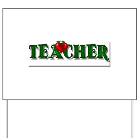 Teacher Apple Yard Sign