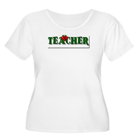 Teacher Apple Women's Plus Size Scoop Neck T-Shirt