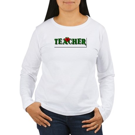 Teacher Apple Women's Long Sleeve T-Shirt