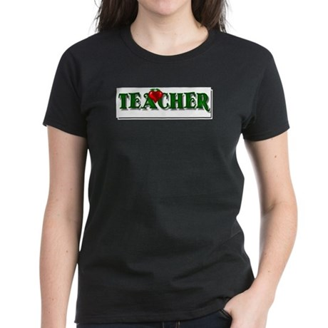 Teacher Apple Women's Dark T-Shirt