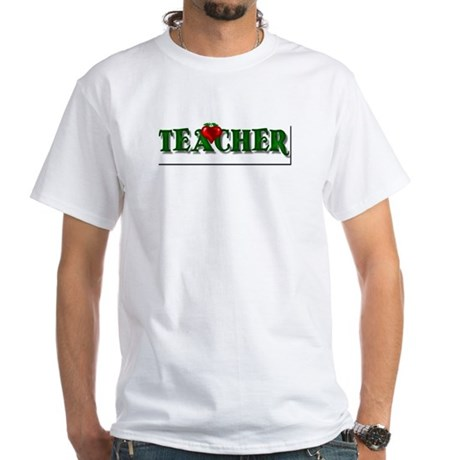 Teacher Apple White T-Shirt