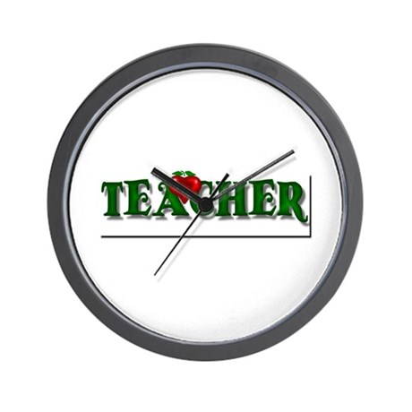 Teacher Apple Wall Clock