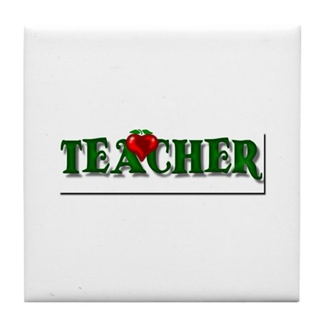 Teacher Apple Tile Coaster