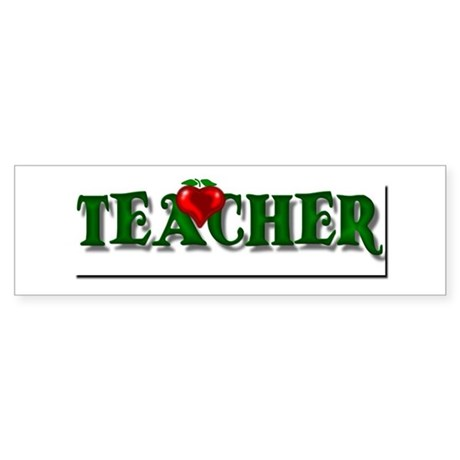 Teacher Apple Bumper Sticker