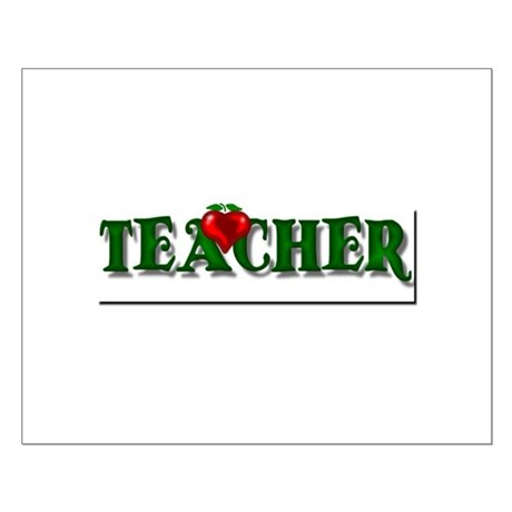 Teacher Apple Small Poster