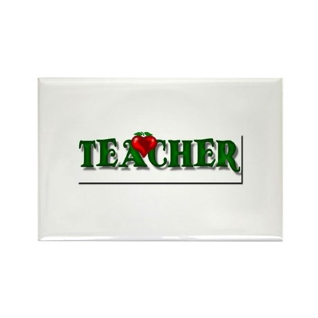 Teacher Apple Rectangle Magnet (100 pack)