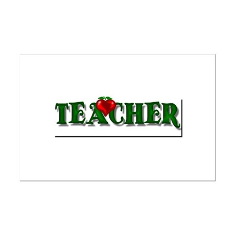 Teacher Apple Mini Poster Print