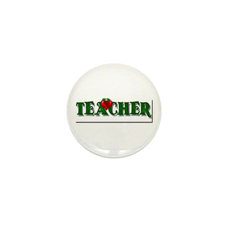 Teacher Apple Mini Button