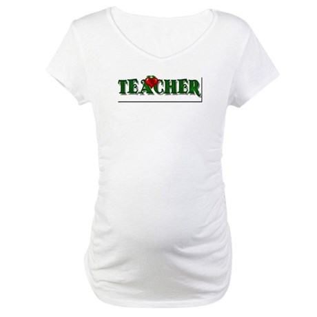 Teacher Apple Maternity T-Shirt