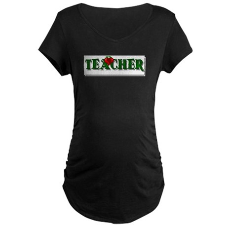 Teacher Apple Maternity Dark T-Shirt