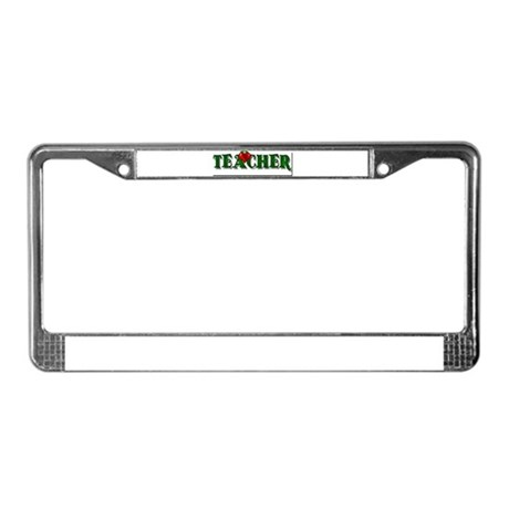 Teacher Apple License Plate Frame