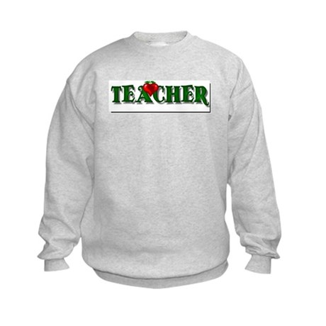 Teacher Apple Kids Sweatshirt