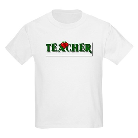 Teacher Apple Kids Light T-Shirt