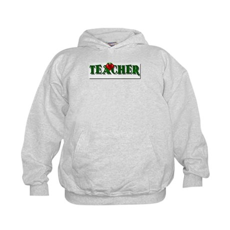 Teacher Apple Kids Hoodie