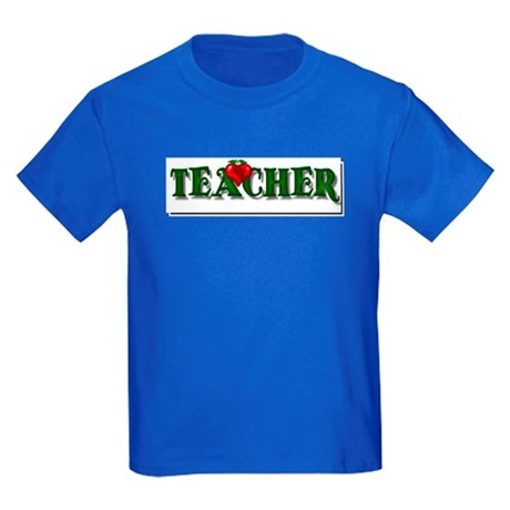 Teacher Apple Kids Dark T-Shirt