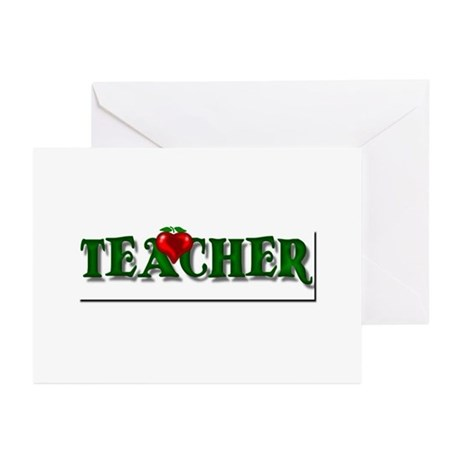 Teacher Apple Greeting Cards (Pk of 10)