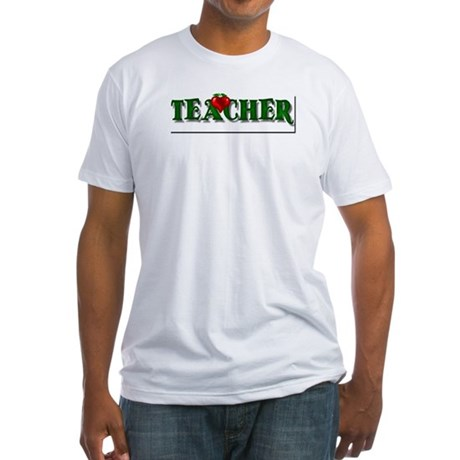 Teacher Apple Fitted T-Shirt
