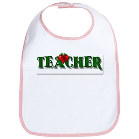 Teacher Apple Bib