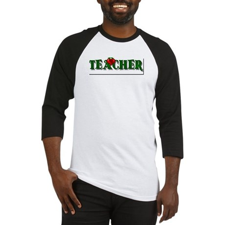 Teacher Apple Baseball Jersey