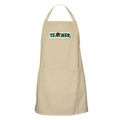 Teacher Apple BBQ Apron