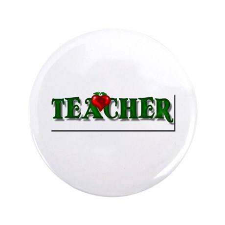 "Teacher Apple 3.5"" Button (100 pack)"