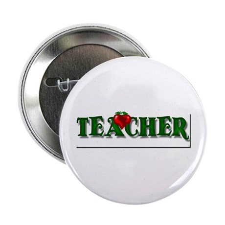 "Teacher Apple 2.25"" Button"