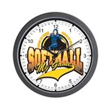 Softball My Game(Womens) Wall Clock