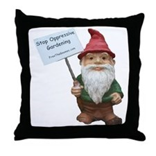 Funny Gnomes Throw Pillow