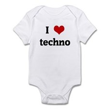 I Love techno Infant Bodysuit