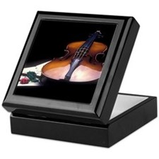 Violin Tile Art Gift Box.