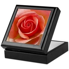 Pink Rose Tile Art Gift Box.
