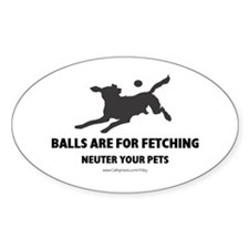 Neuter Your Pets Oval Decal