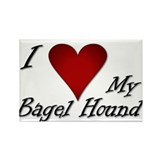 I Heart My Bagel Rectangle Magnet (100 pack)