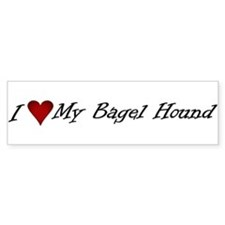 I Heart My Bagel Bumper Bumper Sticker