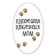 Ridgeback Mom Oval Decal