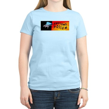 Flying Awesome Possum Women's Light T-Shirt