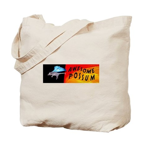 Flying Awesome Possum Tote Bag