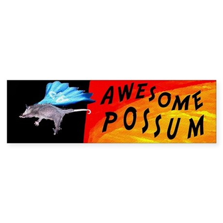 Flying Awesome Possum Bumper Sticker