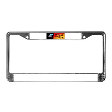 Flying Awesome Possum License Plate Frame