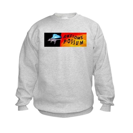 Flying Awesome Possum Kids Sweatshirt