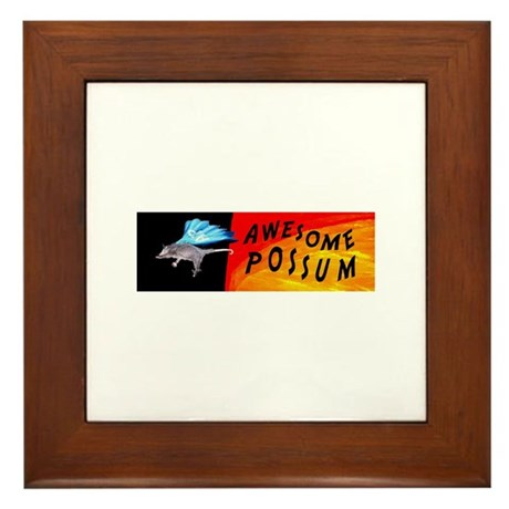 Flying Awesome Possum Framed Tile
