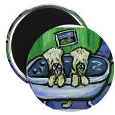 "Wheatens in tub Design 2.25"" Magnet (100 pack)"