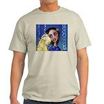 Cool Lady Blue w Wheaten Ash Grey T-Shirt