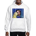 Cool Lady Blue w Wheaten Hooded Sweatshirt
